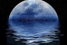 Once in a Blue Moon /  Origin:  Two full moons in the same month are extremely rare, though they do happen. A second full moon has come to be called a blue moon. / by Lyn Drabot