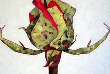 My rose bud paintings