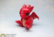 Dragon en fimo