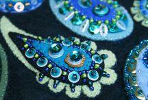 フェルトの刺繍