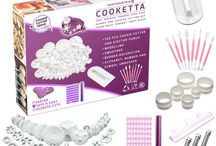 Cooketta / Cooketta - 146 pcs Tart, Pastries, Canapés, Icing, Cake, Clay, Fondant, Sugarpaste, Scones, and Cookies Cutter and embosser design set with ideas booklet  $24.99