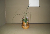 Flower Arrangements for tea-ceremonies / flower & flower container for tea-ceremonies