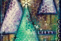 christmas art journaling