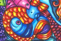 Mermaids, Mermen, Sea sirens and nymphs Fantasy creatures / Mermaids, Mermen, Sea sirens and nymphs Fantasy sea creatures art, fashion and collectibles
