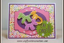 Balloon animals / Baby card