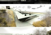 Architectural visualization /  Material behaviour, rendering methods, lighting, composition