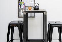 TENDANCE INDUSTRIELLE / Des meubles et de la décoration de style industrielle fabriqués artisanalement en France.