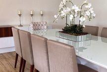 decoração mesa jantar