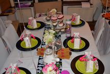 5th birthday tea party designed by Mrs Wedding Planner / #Girlieteaparty #kiidsteaparty  #girlsbirthdayparty #pinkandgreenparty  lots of patisserie treats, girlie delights and fun games