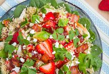Healthy Salad Recipes / Healthy salad recipes!  If you're tired of the plain old lettuce, tomato, and cucumber salad - scroll through this board for tons of unique flavor combinations that will have you craving salads all year long!
