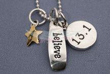13.1 Half Marathon Necklaces / Love to Run Thirteen Point One! 1/2 to Run