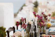Elopement Table / Ideas for how to style your outdoors elopement table : decorations, colours, textures, props