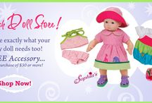 """Sophia's® can dress your 15"""" Baby Doll too! / Shop here for Sweet 15 Inch Baby Doll Clothes for your special doll. Discover Doll Clothes by Sophia's® that look and feel like real baby clothes for the new Baby Doll in your home."""