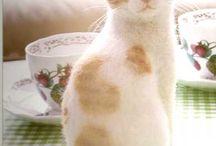 Kotki z filcu