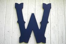 """LettersofWood / Handmade quality painted wooden letters for weddings-guestbooks-baby names-nursery decor-monograms-kids wall art-wall letters-gift ideas-trending items. 6 Sizes: Between10"""" tall to 36"""" tall. Prices $20.00 -$98.00 / by Twigs2 Whirligigs"""