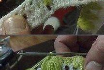 touca de croché bordado