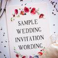 WEDDING INVITES - wording