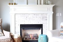 Fireplace and Accent Wall