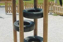 diy kids playgrounds at home
