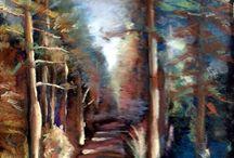 Pasztell tájkép / Pastel landscape