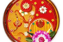 Rakhi Pooja Thali / Decorated Rakhi Pooja Thali adds elegance and charm to the auspicious occasion of Raksha Bandhan.