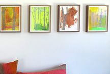 Rooms We Love 2015 / This is a board featuring JRB Art at the Elms representative artists and their works of art in a variety of rooms including dining, kitchen, dens, living rooms, bedrooms and corporate offices.