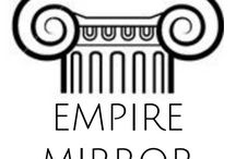 Empire Mirrors / AVAILABLE EXCLUSIVELY AT Atlantic Lighting Studio.  In this world of mass production Empire Mirror provides a personal alternative in your search for a fine antique replica decorative mirror for your home.  Custom made to order in Nova Scotia, using solid maple and birch hardwoods with antiqued gold metal leaf carvings and hand rubbed aged patina finishes.  For the discerning client, Empire Mirror offers you a unique collection of historically inspired Neoclassic mirror designs.