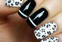 Uñas / Blanco y Negro / nails art black & white