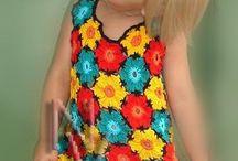 Vestido flores menina