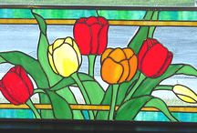 Stained Glass / I loved stained glass as a craft. I have no idea how to do it, but it is on my bucket list to try. And I generally go for those stained glass pieces that are not religious. Although some religious stained glass is nice.