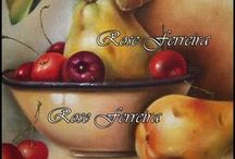telas frutas
