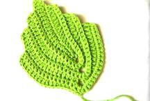 Hoja en Crochet