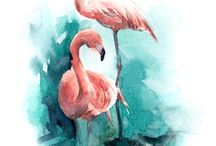 Flamingo Paintings