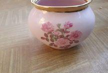Różowa porcelana
