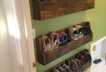 DIY small space shoe storage