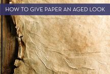 Wie altert man Papier usw.