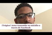 ¡Trágico! Actor transmite su suicidio a través de Facebook
