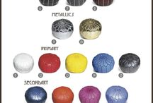 Moroccan Poufs / Find the perfect poufs to complement your home decor!