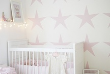 stars pink grey minky baby blanket baby room