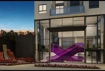 V_XChange / Projeto super exclusivo, com apartamentos e áreas comuns diferenciadas. Para começar, o acesso ao térreo é feito por escadas rolantes, que levam para um imenso lounge integrado com piscina, fitness, cinema e bar, ambientado com som e wifi.