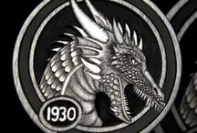 DRAGONS * HOBO NICKELS / *denotes name given for filing puposes, not actual carver names