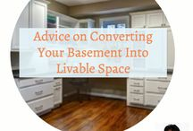 BASEMENT / For most people, their basement is a vast amount of unused square footage! Tap into that space and transform it into a place to live and play. Whether you envision a bedroom or a workout space or a rec room, find inspiration to make the lower level of your home functional and beautiful!