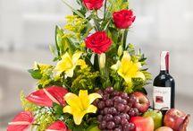 cestas de flores frutas vinhos e chocolates