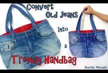 membuat tas dari jeans bekas