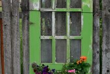 Old doors and window frames
