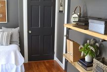 Grey wall color door