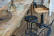 Eetkamertafel en stoelen