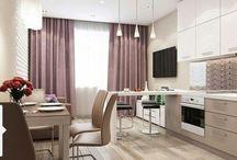 Гостиная столовая дизайн