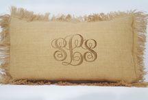 monogram pillow cover