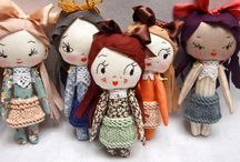 Dolls - Cloth Inspiration / Cloth dolls hand made and artist collectible cloth dolls